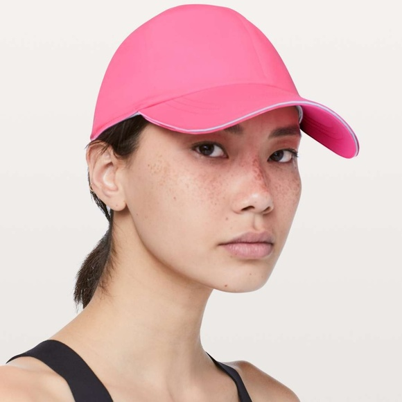 d9b7fa02 lululemon athletica Accessories | Lululemon Baller Hat Run Zing Pink ...